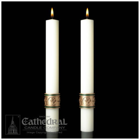 Cross of St. Francis Complementing Altar Candles