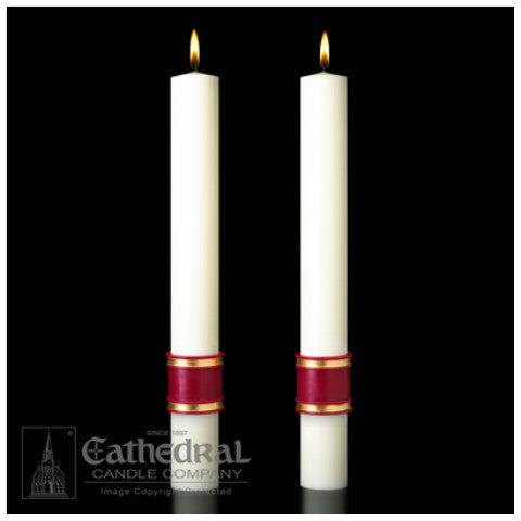 Crux Trinitas Complementing Altar Candles