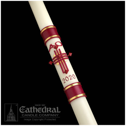 *NEW* Crux Trinitas Paschal Candle