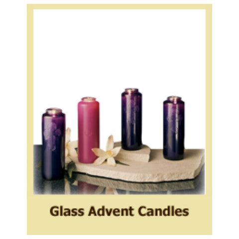Dadant Glass Advent Candles