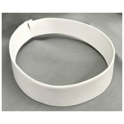 2 Ply White Fabric Collar