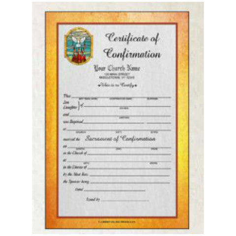 Full Color Confirmation Certificates