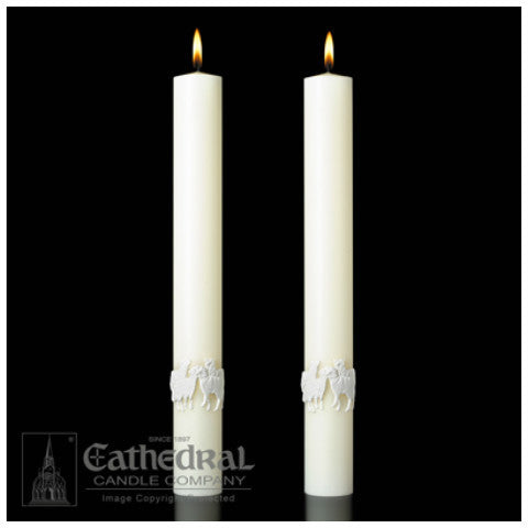 The Good Shepherd Complementing Altar Candles