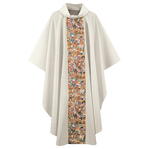 "Cream ""Children of the World"" Chasuble G66424A"
