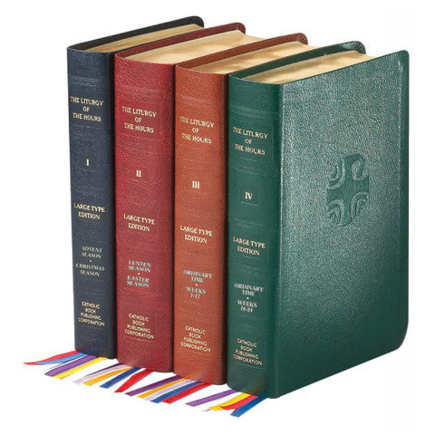 Liturgy of the Hours, Set of 4 Volumes (Large Type, Leather Binding) - No. 709/13