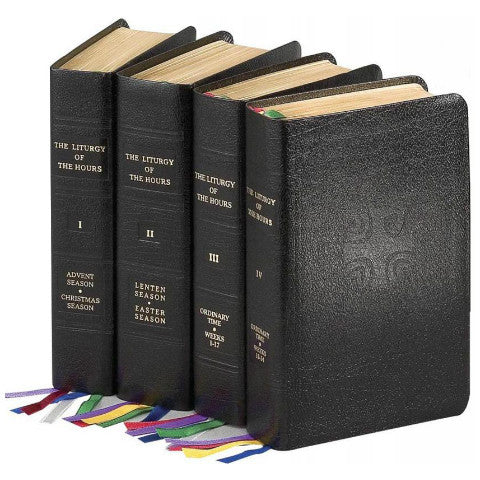Liturgy of the Hours, Set of 4 Volumes (Leather Binding) - No. 409/13