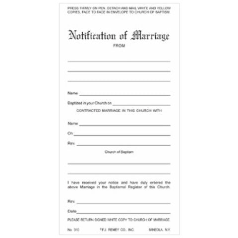 Marriage Notifications