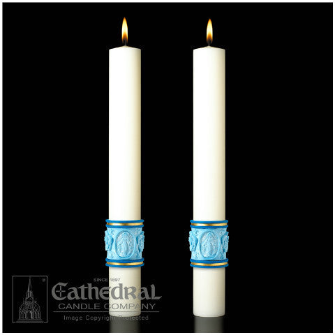 Most Holy Rosary Eximious Complementing Altar Candles