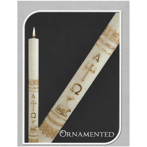 Ornamented by Dadant Paschal Candle