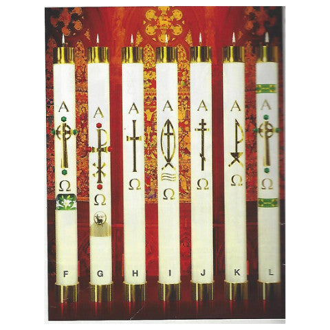 "Refillable Paschal Candle - ""Design H"""
