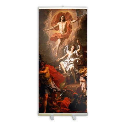 Resurrection of Christ by Coypel Banner Stand - 800