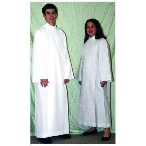 Style #558 Front Wrap Cassock Alb for Altar Servers