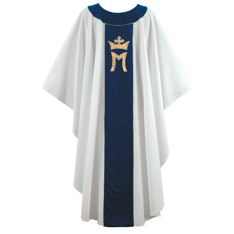 White/Blue Marian Chasuble G64239A