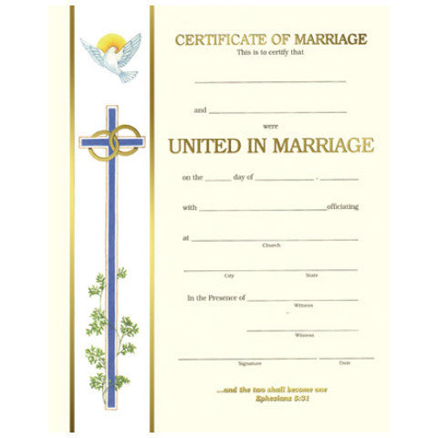 XC 101 Marriage Certificates