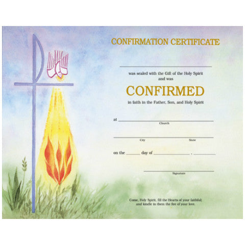 XD 104 Confirmation Certificates