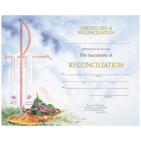 XD 105 Reconciliation Certificates