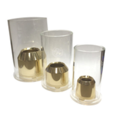 Solid Brass Universal Candle Burners - Draft Style
