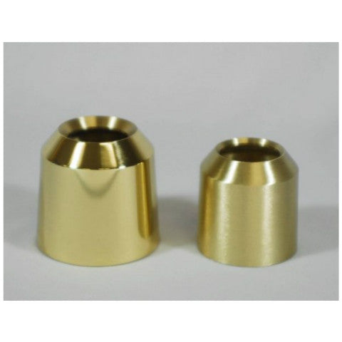 Solid Brass Universal Candle Burners - Plain Style