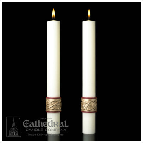 Sacred Heart Complementing Altar Candles