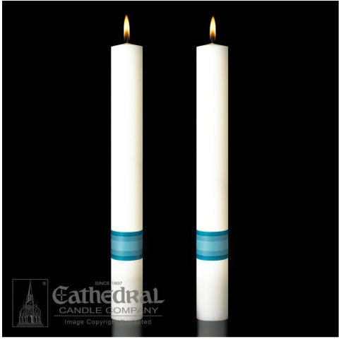Divine Mercy Complementing Altar Candles