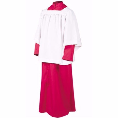 Style #215 Altar Server Roman Cassock Red