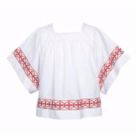 Style #113B Altar Server Banded Surplice