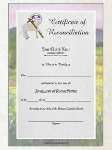 Full Color Reconciliation Certificates