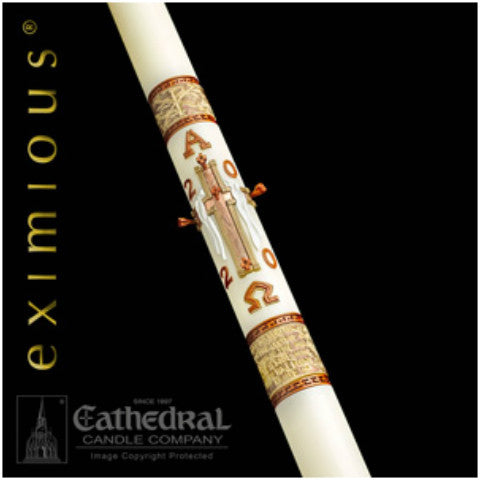 Luke 24 Eximious Paschal Candle