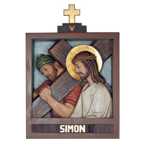 Stations of the Cross Carved with Linden Wood