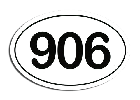 Area Code 906 Sticker