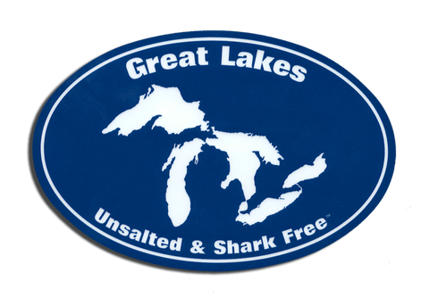 Great Lakes Unsalted and Shark Free Sticker
