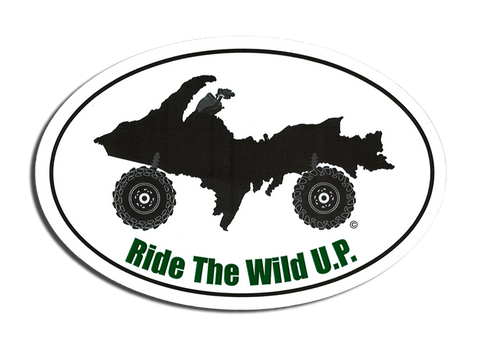 Ride the Wild U.P. Stickers