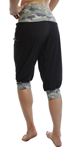 Fitness Workout Exercise Cargo Capri Pants - SISYAMA