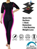 Sisyama Women Sauna Neoprene Sweat Workout Fitness Weight Loss Hot Slimming Suit Long Pants - SISYAMA