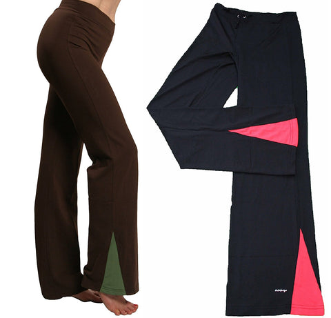 Dri Fit Active Workout Fitness Yoga Poly Spandex Pants - SISYAMA