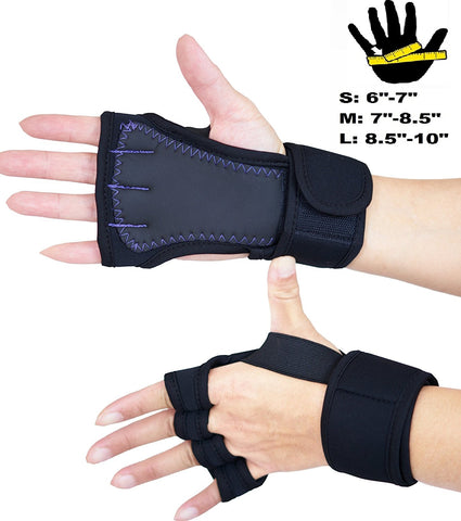 SISYAMA Padded Grip Wrist Support Workout Gloves Yoga Pilates Weight Lifting Fitness WOD Cross Training Crossfit Gym Men Women - SISYAMA