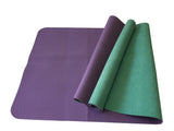 Hot Yoga Travel Combo Mat Microfiber Towel Folding Reversible Mat No Slip 3.5mm - SISYAMA