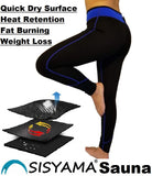 SISYAMA Anti Cellulite Weight Loss Workout Exercise Fitness Hot Slimming Sweat Sauna Capris Pants - SISYAMA