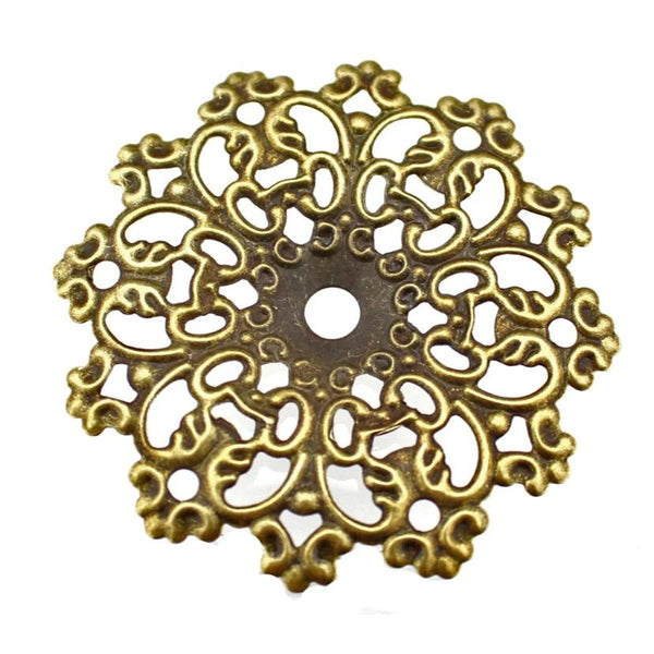 Antique Bronze Filigree Stamping at Baubles Of Fun