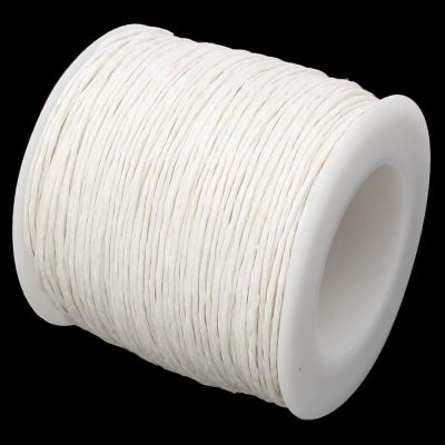 10 Yards (30 Feet) 1Mm Canvas White Waxed Cotton Cord - Wax
