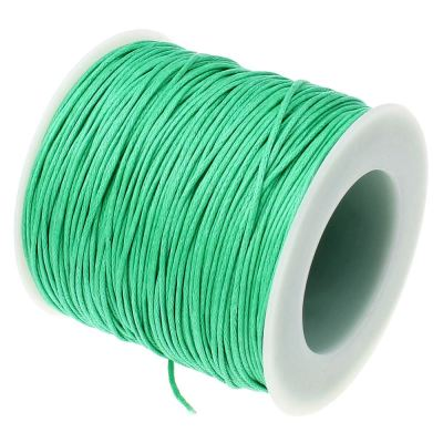 10 Yards (30 Feet) Aquamarine .7Mm Waxed Cord String / Jewelry Making - Wax