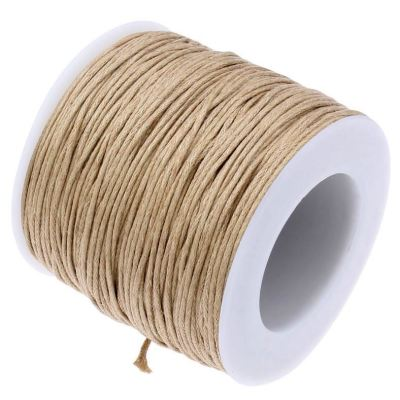 10 Yards (30 Feet) Camel Tan 1Mm Waxed Cord String - Wax