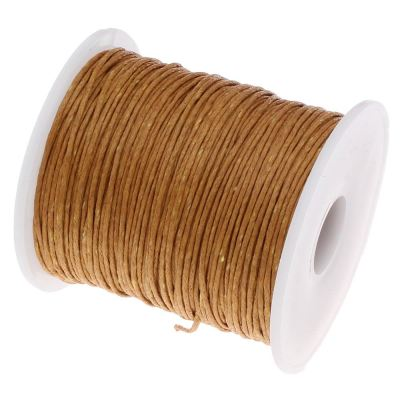 10 Yards (30 Feet) Dark Gold 1Mm Waxed Cotton Cord String / Jewelry - Wax