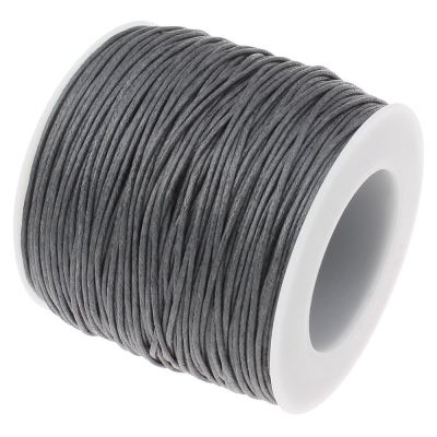 10 Yards (30 Feet) Dark Gray 1Mm Waxed Cord String / Macrame - Wax