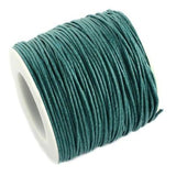 10 Yards (30 Feet) Dark Teal 1Mm Waxed Cord / Cotton Jewelry - Wax