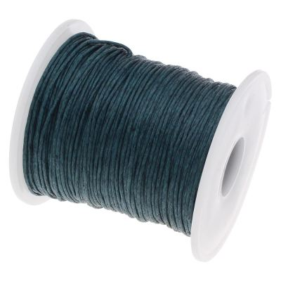10 Yards (30 Feet) Dark Teal 1Mm Waxed Cotton Cord String / Jewelry - Wax