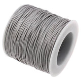 10 Yards (30 Feet) Dove Gray 1Mm Waxed Cord String - Wax