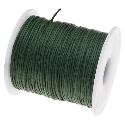 10 Yards (30 Feet) Forest Green 1Mm Waxed Cord String / Jewelry - Wax