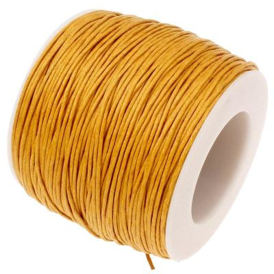 10 Yards (30 Feet) Golden Rod .7Mm Waxed Cotton Cord String - Wax