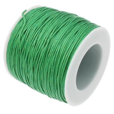10 Yards (30 Feet) Green 1Mm Waxed Cotton Cord / Bracelet - Wax